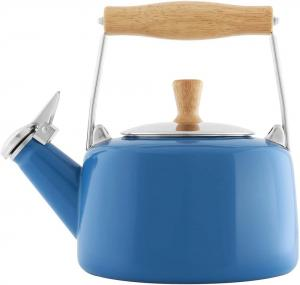 1.4 Quart Enamel-on-Steel Sven Whistling Teakettle - Blue Cove
