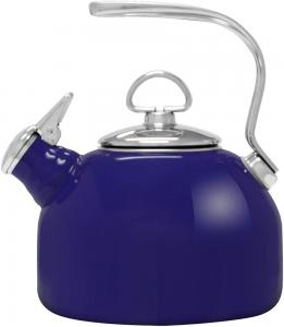 1.8 Quart Classic Enamel-on-Steel Whistling Teakettle - Cobalt Blue